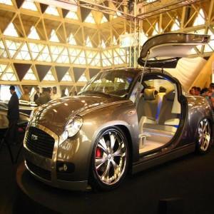 The Ambiero - a golden Ambassador car
